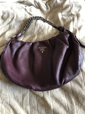 Authentic Prada leather bag silver chain for Sale in Seaside, CA
