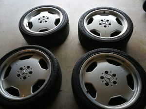 """18"""" Mercedes Benz AMG Monoblock wheels with tires for Sale in Chantilly, VA"""