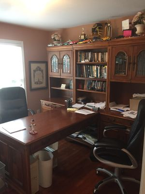 Office Furniture (Large Desk) Chairs Included for Sale in Buford, GA