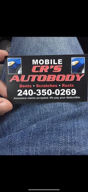 CR.s mobile auto body serves all DMV for Sale in Laurel, MD