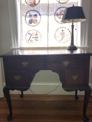 "Antique solid wood writing desk table 36""x 20"" x 30"" for Sale in Newton, MA"