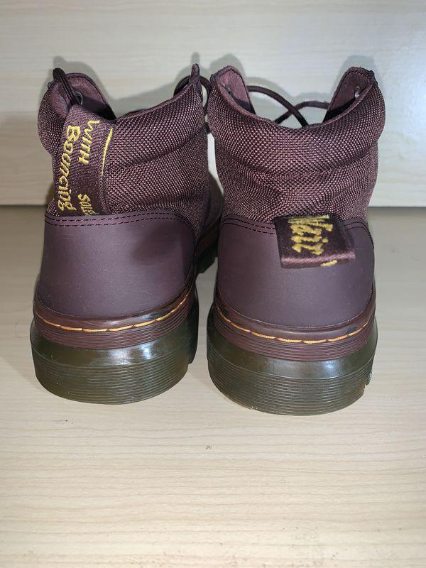 Men's Shoes Dr. Martens BONNY Nylon Canvas Ankle Boots Brown Size 8