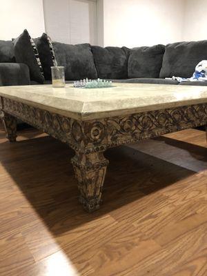 Stone coffee table (heavy) for Sale in Gulf Stream, FL