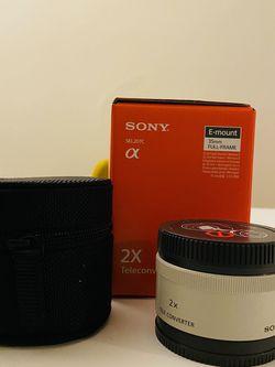 Sony 2x tele converter (Double your Zoom Lens Range) for Sale in Oceanside,  CA