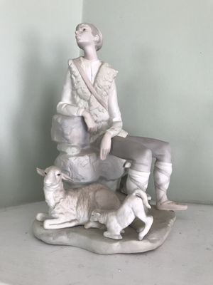 Porcelain Lladro Shepard Boy Collectible Figurine for Sale in IND HEAD PARK, IL