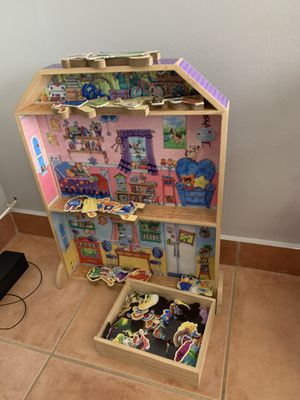 Wooden doll house for kids for Sale in Opa-locka, FL