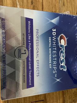 Crest Whitening Strips (Never Opened 3D White strips - Professional Effects) for Sale in SeaTac,  WA