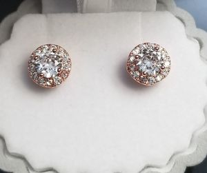 18kt Rose Gold Filled Simulated Diamond 7mm Stud Earring for Sale in Aspen Hill, MD