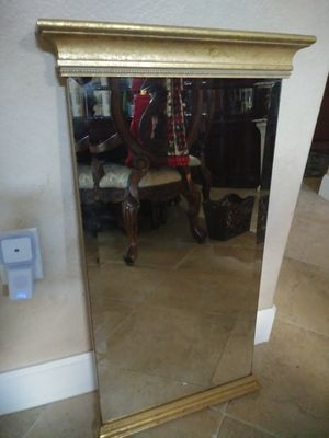 "35"" Tall vintage beveled pillar column wall mirror for Sale in Apopka, FL"