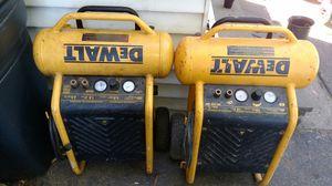 2 DeWalt air compressors 4.5 gallon tank for Sale in Clinton, MA