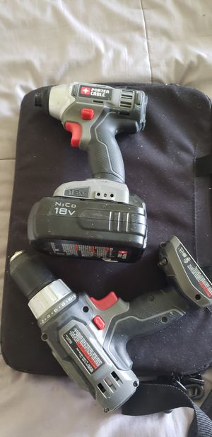 Porter Cable 18v impact driver, drill, and battery (no charger) for Sale in Surfside Beach, SC
