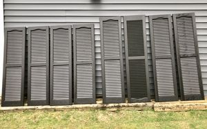 Vinyl shutters - per pair for Sale in Milton, PA