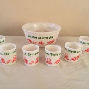 Milk Glass Punch Bowl With Cups for Sale in Jurupa Valley, CA