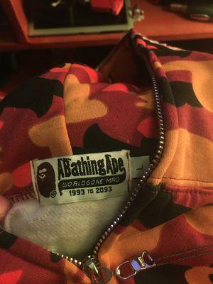 Orange bape hoodie L for Sale in Seattle, WA