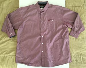 Wrangler George Strait Metallic Pink Modern L/S Dress Button Shirt Mens Sz 4XL for Sale in Tempe, AZ