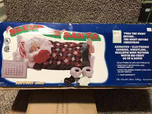 Vintage Telco MOTIONETTES LARGE ANIMATED SNORING, SLEEPING SANTA CLAUS 1992 for Sale in French Creek, WV