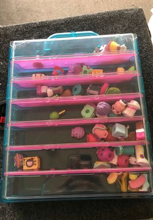 Shopkins and display case for Sale in Las Vegas, NV