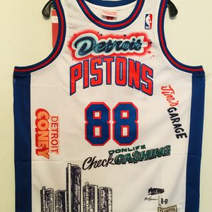 Brand New Detroit Pistons 88 Jus' Don Stitched Jersey for Sale in Daly City, CA