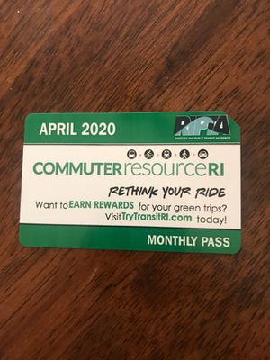 APRIL 2020 monthly bus pass for Sale in Cranston, RI