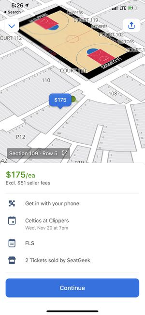 Celtics @ clippers for Sale in Los Angeles, CA