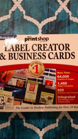 Label created and business cards for Sale in Miller Place, NY