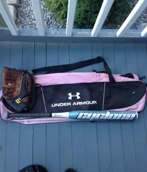 Softball bag,bat and glove for Sale in Torrington, CT