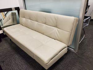 Leather Futon off white for Sale in Glendale, CA