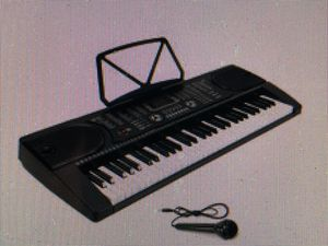 61 key keyboard With microphone And LCD display in portable Black for Sale in Tampa, FL
