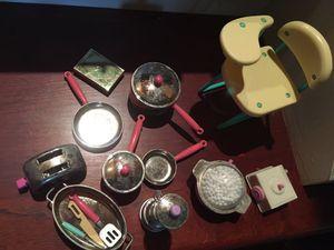 Barbie Kitchen Items & Desk for Sale in Natick, MA