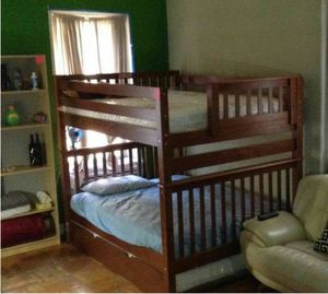 Full size bunk bed / trundle (3 beds) for Sale for sale  Queens, NY