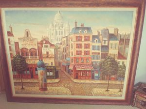 2 x paintings of Paris for Sale in West Palm Beach, FL