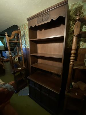 MCM mid century modern shelf cabinet shelves with the storage for Sale in Brunswick, OH