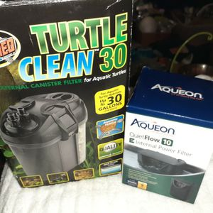 Zoo Med Turtle Clean 30g Filter And Aqueon Quietflow Internal Power Filter NEW Never Used! for Sale in Greensboro, NC