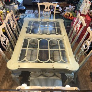 Glass Top Dining Table and Chairs for Sale in Alexandria, VA