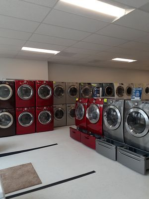 🔥🔥Red LG washer and electric dryer set 90 days warranty 🔥🔥 for Sale in Mount Rainier, MD