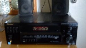 Pioneer audio and video multi-channel receiver with speakers for Sale in Bakersfield, CA
