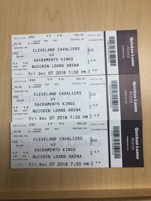 Friday's Cavs Game Vs. Sacramento Kings for Sale in Cleveland, OH