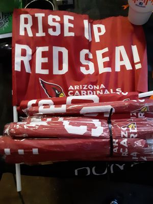 "Lot of 18 ""Rise Up Red Sea"" Arizona Cardinals Fan Flags for Sale in Phoenix, AZ"