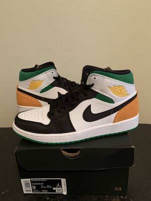 Air Jordan 1 Mid Black White Green Laser Orange Size 9 (Pick Up) for Sale in Sunrise, FL