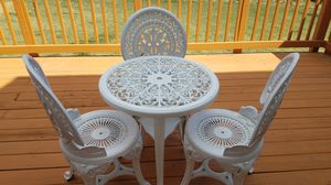 PATIO TEA TABLE WITH THREE CHAIRS for Sale in Ashburn, VA