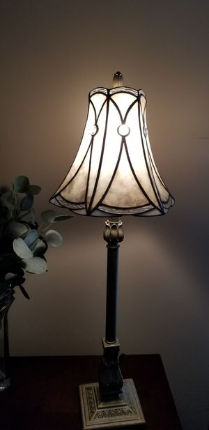 table lamp stained glass silver for Sale in Miami, FL