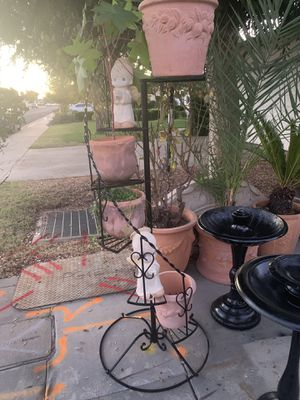 6 tier wrought iron plant stand for Sale in Clovis, CA