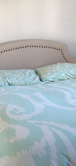 Upholstered Headboard + Free Bed Frame for Sale in Santa Monica,  CA