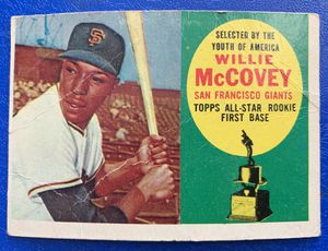 1960 Willie McCovey Rookie Topps Baseball Card #316 Original San Francisco Giants for Sale in Brea, CA