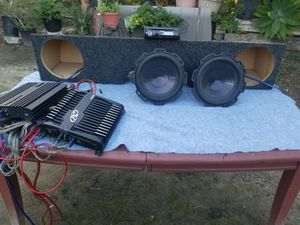 Pioneer Radio, 10'' Rockford Fosgate with speaker box, 2 AMPS for Sale in Mission Viejo, CA