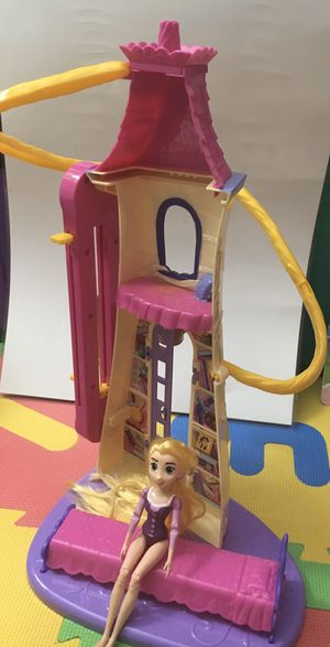 Rapunzel princess doll and tower for Sale in Arlington, VA
