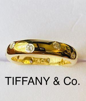 """Like new Genuine TIFFANY & CO. """"Etoile"""" collection Diamond Platinum and 18k Gold Eternity Band Ring for Sale in Bellevue, WA"""
