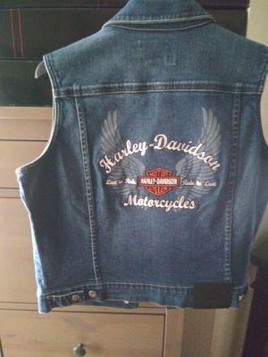 Beautiful denim Harley vest for women for Sale in Phoenix, AZ