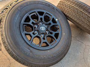 "16"" Toyota Tacoma BLACK Wheels Rims Tires Tundra Sequoia 4Runner 6x5.5 for Sale in Rio Linda, CA"