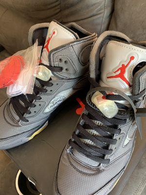 New Jordan 5 Off White sz11 for Sale in Bladensburg, MD